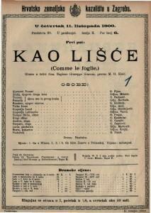 Kao lišće gluma u četiri čina / napisao Giuseppe Giacosa
