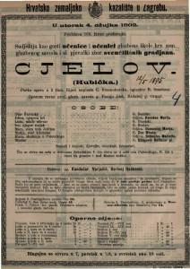 Cjelov : pučka opera u 2 čina / uglazbio B. Smetana  =  Hubička