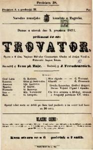 Trovator Opera u 4 čina / Napisao Salvator Cammarano