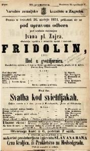 Fridolin ili Hod u gvoždjarnicu Parodistična opereta u 1 činu