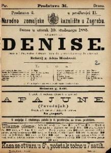 Denise Drama u 4 čina / napisao Aleksander Dumas sin