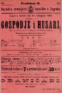 Gospodje i husari Šaljiva igra u 3 čina / prevod s poljskokga od grofa Fredra