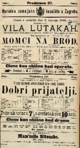 Vila lutakah ; Momci na brod ; Dobri prijatelji : Pantomimički plesni deviertissement u 1 činu / glasba od I. Bayer-a