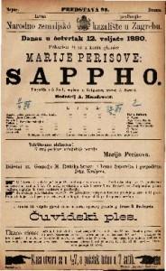 Sappho tragedija u 5 činah / napisao ju Grillparzer