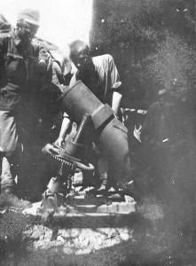 Posada novog minobacača (22 M.W.) u Siegfried zaklonu - korp.Vavrik