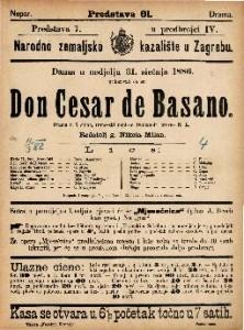 Don Cesar de Basano Drama u 5 činah / francezki napisao Dumanoir