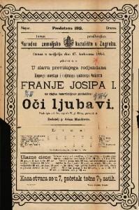 Oči ljubavi Vesela igra u 3 čina / napisala W. pl. Hilern