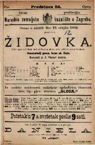 Židovka Velika opera u 5 činah / glasba od Halévy-a