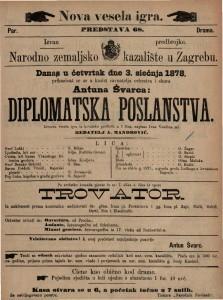 Diplomatska poslanstva izvorna vesela igra iz hrvatske prošlosti u 3 čina / napisao Ivan Vončina ml.