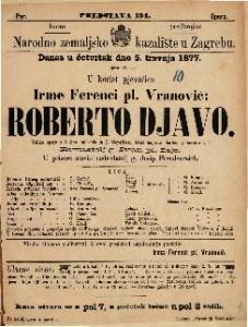 Roberto djavo : velika opera u 5 čina / uglasbio ju J. Meyerbeer