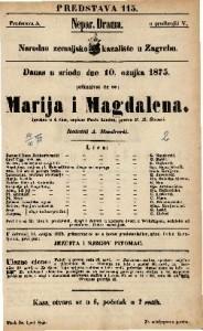 Marija i Magdalena : Igrokaz u 4 čina / napisao Pavle Lindau