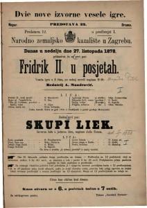 Fridrik II. u posjetah vesela igra u 2 čina / po nekoj noveli napisao Dragutin Riedl