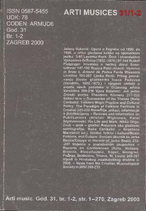 God. 31(2000), br. 1-2 : Arti musices