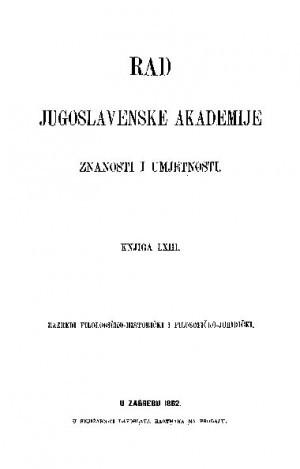 Knj. [3](1882) : RAD