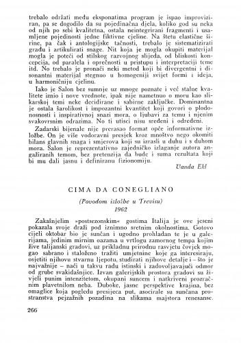 Cima da Conegliano (Treviso) : Bulletin Zavoda za likovne umjetnosti Jugoslavenske akademije znanosti i umjetnosti