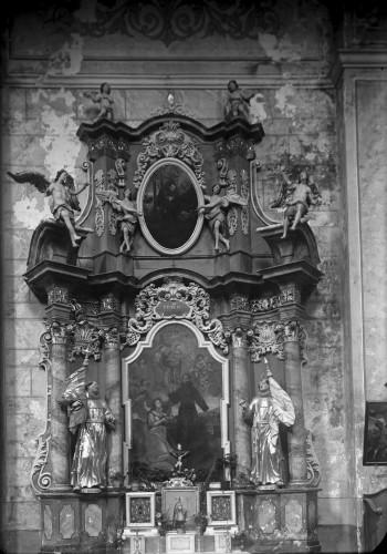 Weinacht, Josephus (Josip)  : Crkva Svetog Ivana Krstitelja (Kloštar Ivanić) : oltar Svetog Franje Asiškog [Griesbach, Đuro  ]