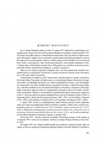 Robert Matijašić : Ljetopis