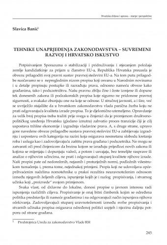 Tehnike unapređenja zakonodavstva - suvremeni razvoj i hrvatsko iskustvo : [strukturne zadaće] : Modernizacija prava