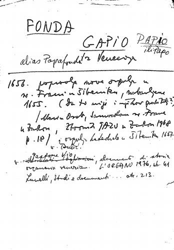Fonda Gapio Papio ili Papo alias Papafonda ; iz Venecije