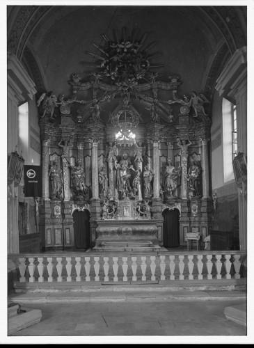 Crkva Svetog Ladislava-Uznesenja Marijina (Pokupsko) : oltar Svetog Ladislava, 1739. [Griesbach, Đuro  ]