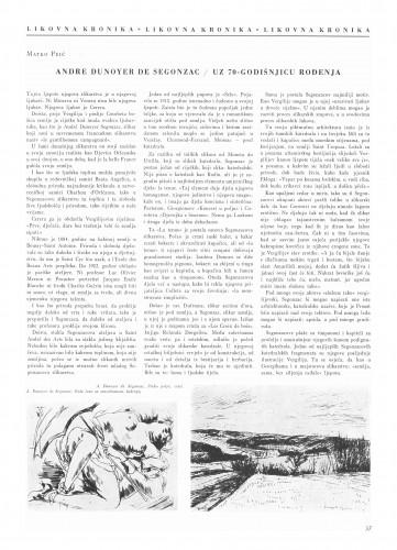 André Dunoyer de Segonzac : Bulletin Instituta za likovne umjetnosti Jugoslavenske akademije znanosti i umjetnosti