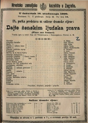 Dajte ženskim ljudska prava vesela igra u četiri čina / od Valabrègue-a i Hennequin-a