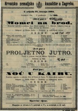 Momci na brod komična opereta u jednom činu / uglazbio Ivan pl. Zajc