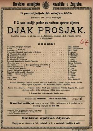 Djak prosjak komična opereta u tri čina / od Millöckera