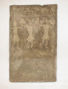 Ploča stećka sa muškim kolom Nepoznat