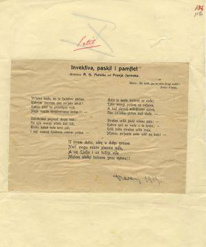 Invektiva, paskvil i pamflet demonu A. G. Matošu od Franje Jarmeka