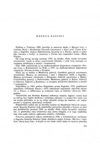 Ksenija Kantoci : [biografije novih članova Akademije]