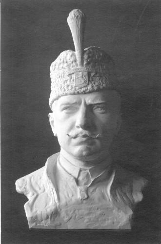 Valdec, Rudolf (1872-1929) : Bista generala Radka Hadži Dimitrieva - studija za spomenik u Slivnom, Bugarska