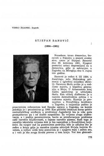 Stjepan Banović (1884-1961) / V. Žganec