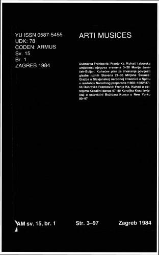 God. 15(1984), br. 1 : Arti musices