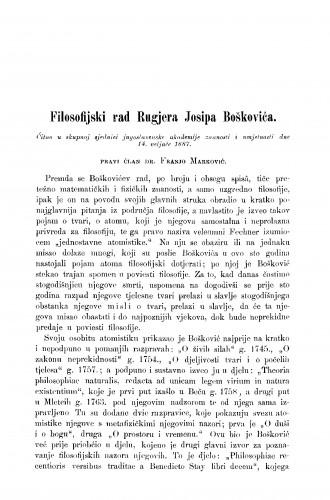 Filosofijski rad Rugjera Josipa Boškovića : RAD