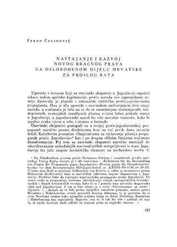 Nastajanje i razvoj novog bračnog prava na oslobođenom dijelu Hrvatske za prošlog rata