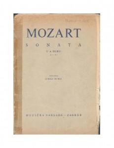 Sonata u A-duru : K. V. 331 : Ostavština Jurica Murai