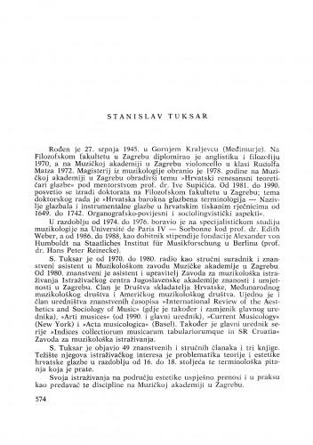 Stanislav Tuksar : [biografije novih članova Akademije]