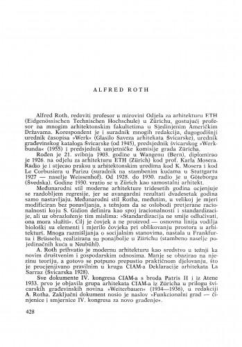 Alfred Roth : [biografije novih članova Akademije]