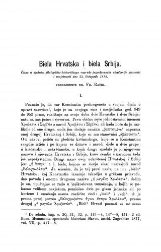 Biela Hrvatska i biela Srbija : RAD