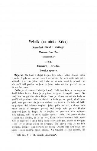 Vrbnik (na otoku Krku) : narodni život i običaji : Zbornik za narodni život i običaje