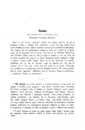 Basme : (iz Bukovice u Dalmaciji.) / V. Ardalić