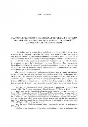 Pavao Markovac (1903-1941) i njegova doktorska disertacija