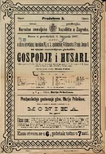 Gospodje i husari Šaljiva opera u 3 čina / Glasba od Ivana pl. Zajca