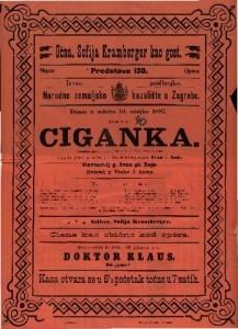 Ciganka Romantična opera u 3 čina / Glasba M. V. Balfe-a