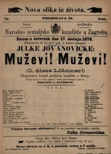 Muževi! Muževi! slika iz života u 4 čina. Repertoirni komad gradskog kazališta u Beču  =  O, diese Männer!