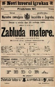 Zabluda matere Izvorni igrokaz u 4 čina / napisala H. Tomić