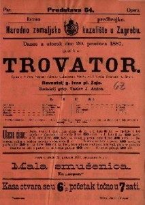 Trovator Opera u 4 čina / Glasaba od J. Verdia