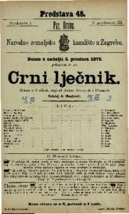 Crni lječnik drama u 6 slikah / napisali Anicet Beurgeois i Dimanoir