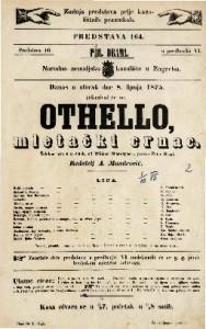 Othello, mletački crnac žalobna igra u 5 činah / od Wiliana Shakespeara